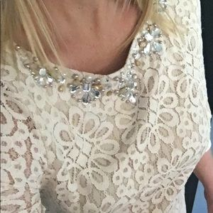 Lace Champagne beaded dress